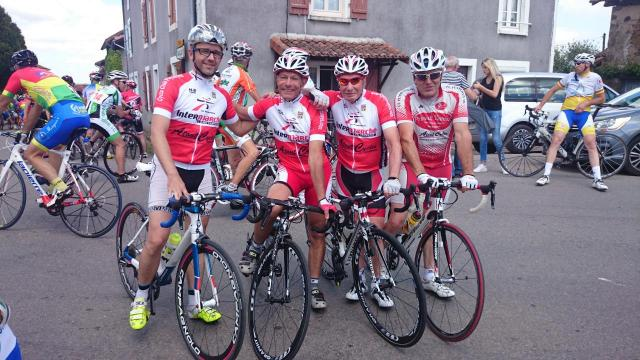 Christian, Patrick, Serge et Philippe à Chassenon