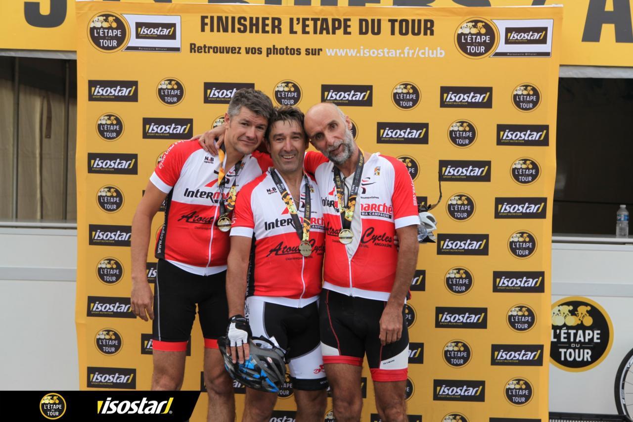 """Hervé, Patrick M et Gervais """"Finisher"""" de l'Etape du Tour 2015"""