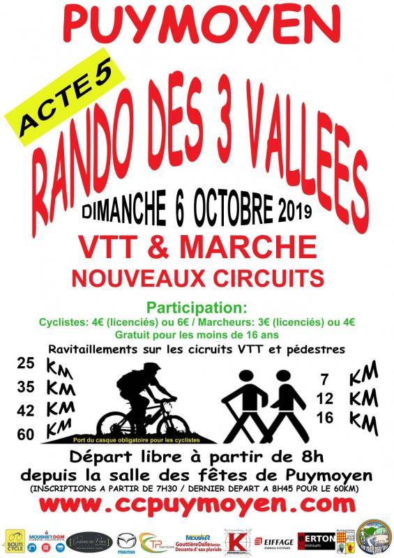 Rando 3 vallees 2019 affichesx30 flyersx1500